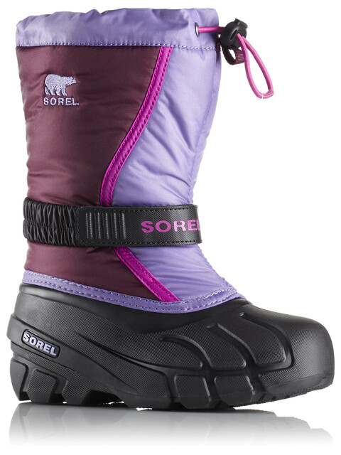 Sorel Flurry Boots Youth Purple Dahlia/Paisley Purple
